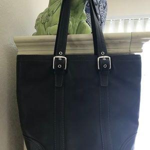 Black COACH Leather Tote Handbag